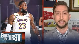 Lakers are gonna have trouble when LeBron's not on the floor — Nick Wright | FIRST THINGS FIRST