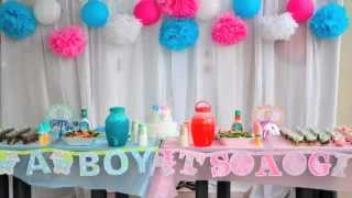 Baby gender reveal party, cute, fun, idea, Nhut + Uyen.