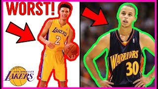 Why Lonzo Ball will be the WORST ROOKIE in the NBA!! Steph Curry DESTROYS LONZO!