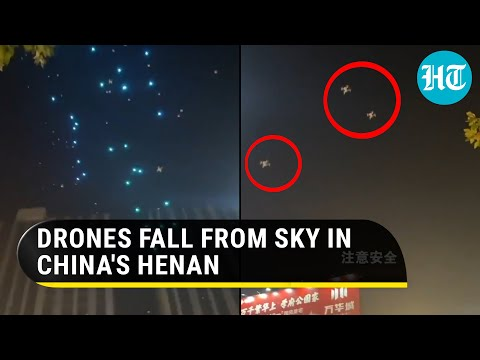 China: Dozens of drones fall from sky as light show failed, spectators run in panic