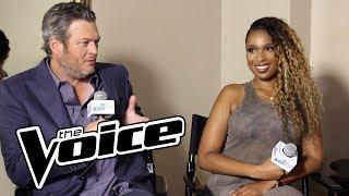 Blake Shelton & Jennifer Hudson Trash Talk Adam Levine + Talks Coaching Talent On The Voice & More!