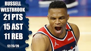 Russell Westbrook records triple-double in Wizards debut [HIGHLIGHTS] | NBA on ESPN
