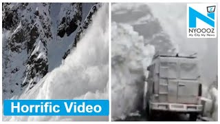 Scary Video: Glacier wall breaks and slides on to Himachal..