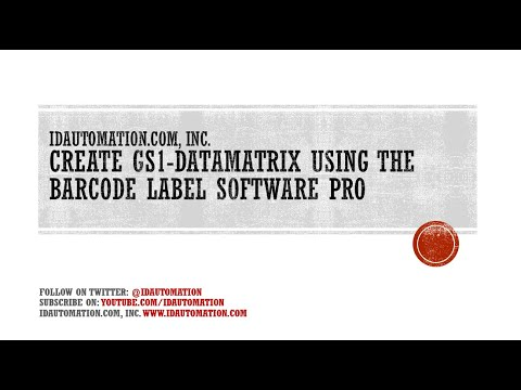 How to Create GS1 Data Matrix 2D Barcodes using the Barcode Label Software Pro