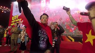 DJ MINH TRÍ an ủi hàng vạn khán giả tại Mỹ Đình khi U23 Việt Nam thua đáng tiếc