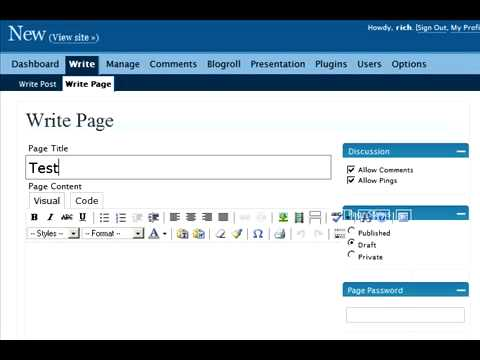 How to create a custom wordpress page template youtube for Create a new page template wordpress