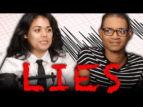 Adult Children Take A  Lie Detector Test With Parents