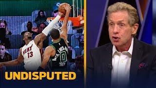 Skip & Shannon react to Adebayo's block on Tatum, 'best defensive stop in NBA playoffs' | UNDISPUTED
