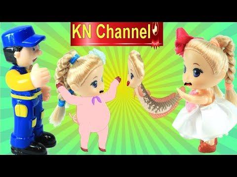 BÚP BÊ KN Channel ĂN BÁNH ĐỘNG VẬT TRONG SỞ THÚ VÀ CÁI KẾT....tập 1