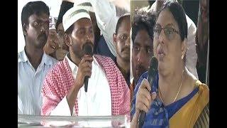 Lady super speech about YS Jagan and YSR