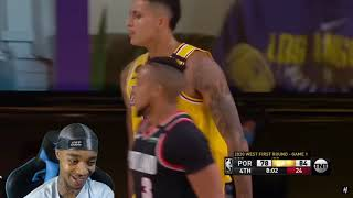 FlightReacts Trail Blazers vs Lakers - Full Game 1 Highlights   August 18, 2020 NBA Playoffs!