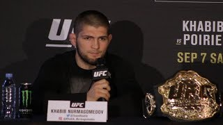 UFC 242 Press Conference: Khabib Nurmagomedov vs. Dustin Poirier - MMA Fighting