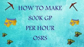 How to make 800k+ an hour [Old School Runescape] - [Tribal tops] - [moneymaking guide]