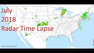July 2018 US Weather Radar Time Lapse Animation