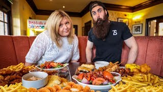 THE FLAMING CHICK N MIX CHALLENGE | BeardMeatsFood