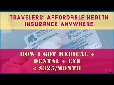 Affordable HEALTH INSURANCE for Travelers & Self-Employed