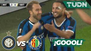 ¡GOOOOL! ¡Eriksen marca el segundo!  Inter Milan 2-0 Getafe   Europa League 2020 - 8vos final   TUDN