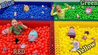 Giant Lego Ball Pit Toy Scavenger Hunt In Your Color!