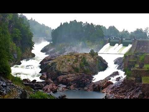 Synchrone Flutwellen - Öffnung der Stauwehre in Trollhättan