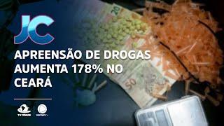 Apreensão de drogas aumenta 178% no Ceará