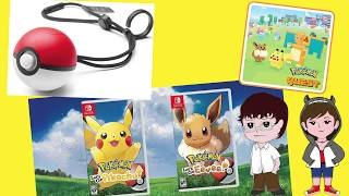 NEWS - Pokemon Pre E3 - Let's Go, Pokeball Plus, Pokemon Quest and More