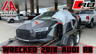 Rebuilding a Wrecked 2018 Audi R8 Part 1
