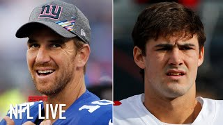 Eli Manning will likely start for the Giants vs. the Eagles while Daniel Jones is injured   NFL Live