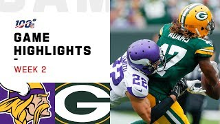 Vikings vs. Packers Week 2 Highlights | NFL 2019