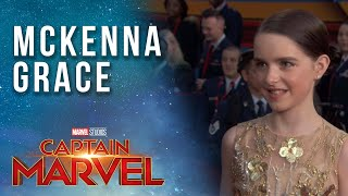 Mckenna Grace on playing a young Captain Marvel | Red Carpet Premiere
