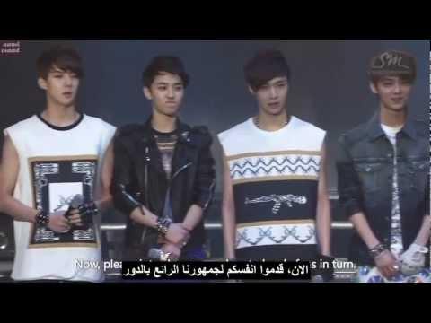 EXO - SHOWCASE Part 1 HD arabic sub