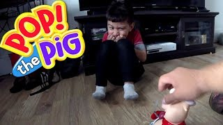 Pop the Pig- Apollo and Daddy Play .. Who will win?