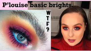 P. Louise baseic brights review & tutorial | sunset eyes using P. louise makeup | worlds best base