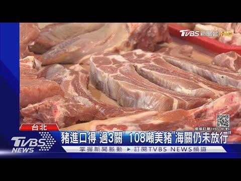 美豬進百噸.豬肉儀表板掛0 食藥署:時間差 TVBS新聞