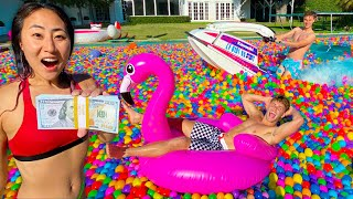LAST TO LEAVE THE BALL PIT WINS $10,000!!