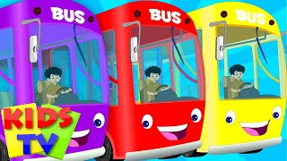 English wheels on the bus | kids playlist | kids tv baby songs | the wheels on the bus