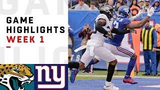 Jaguars vs. Giants Week 1 Highlights | NFL 2018