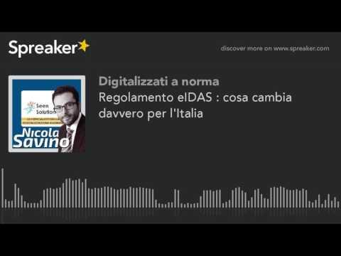 Regolamento eIDAS : cosa cambia davvero per l'Italia
