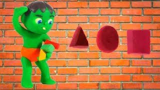 SUPERHERO BABY MATCHES  SHAPES ❤ Superhero Babies Play Doh Cartoons For Kids