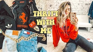 BEST COME THRIFT WITH ME EVER ☆ Tommy, Adidas, Levis & Fila