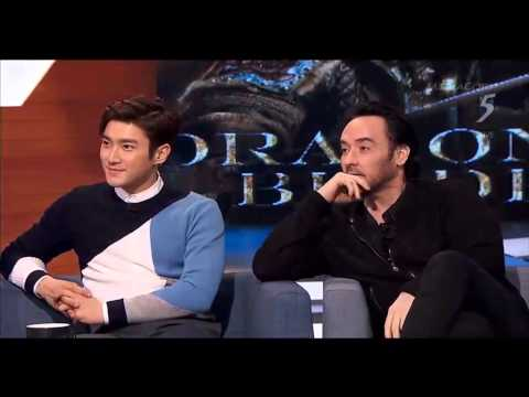 150209 The 5 Show with cast of Dragon Blade 1/2 (Jackie Chan, John Cusack, Adrien Brody, Choi Siwon)