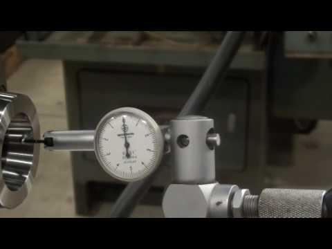 Hardinge HLV-H-EM Toolroon Lathe, Indicating the Spindle