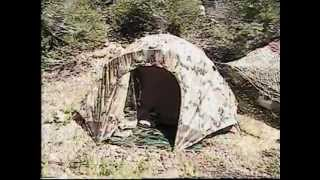 Marine 2 Man Combat Tent & Ice Chest at Troy Calif on Donner Pass