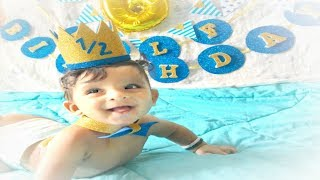 HOW TO DIY HALF BIRTHDAY CAP AND CAKE TOPPER | DIMPLESAVIO