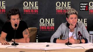 One Direction: This Is Us New York Press Conference with Harry & Niall