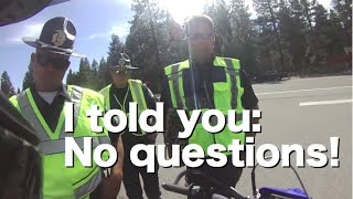 DUI checkpoint refusal to answer cops