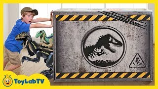 Giant LEGO Dinosaur Toys Surprise! Build Dinosaurs with Jurassic World Fallen Kingdom Toy Playsets