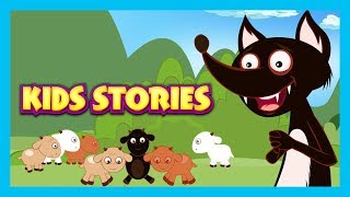 KIDS STORIES - The Wolf and The Seven Goats Story, The Fox & The Stork