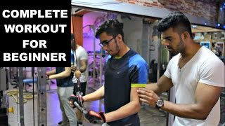 Workout For Beginners | Complete Beginners Guide To Gym