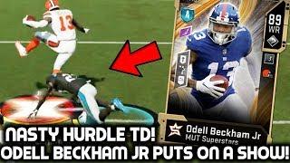 ODELL BECKHAM JR MAKES AMAZING PLAYS! NASTY HURDLE TD! Madden 20 Ultimate Team