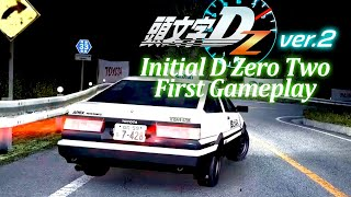 [1080p60] Initial D Zero Ver.2 first Gameplay Time Attack/Online Battle (Real Hardware Capture)